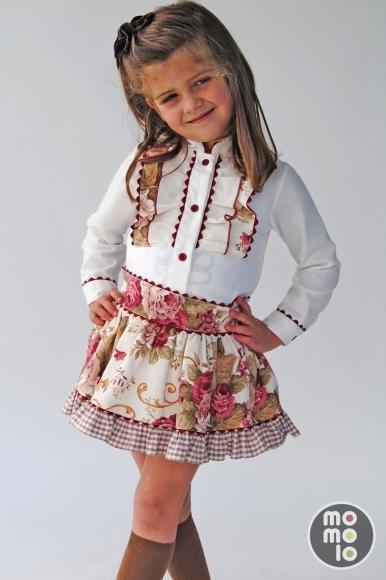 moda infantil faldas nina