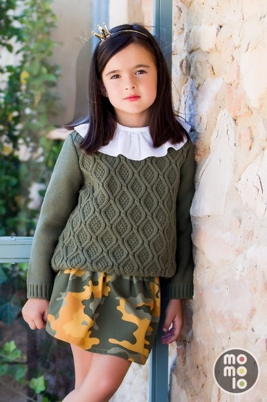 MOMOLO | moda infantil |  Cárdigans y jerséis Kid's chocolate, Camisas Kid's chocolate, Faldas Kid's chocolate, niña, 20180905142124