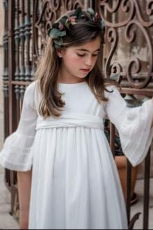MOMOLO | fashion kids |  Communion Dresses Inés Vega, Crown Inés Vega, girl, 20181212105110
